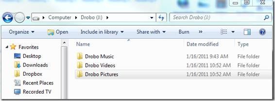 Drobo Folders