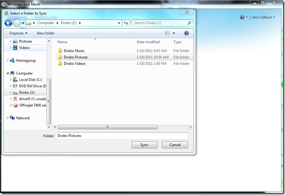 Live Mesh Sync a Folder