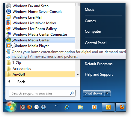 How to stream movies from windows media center to xbox 360