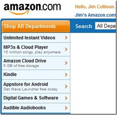 Amazon Start Page