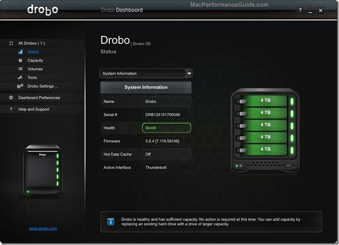 Drobo5D-Dashboard-status